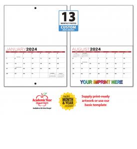 13-Month Custom MINI Photo Wall Calendar, Stapled