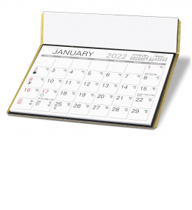 The Charter Desk Calendar (Black/Gold)
