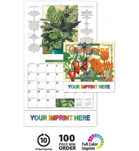 2019 Old Farmers Almanac Gardening Calendar 10 1 2 X 18 1 4 Custom Staple Bound Drop Ad