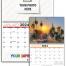 Custom Single Photo Wall Calendar (11x17, Twin-Loop, 12-Month Tear sheet, 'BASIC' Grid)