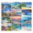 Beaches 6-Sheet Desk Calendar