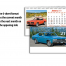 Muscle Cars 6-Sheet Desk Calendar