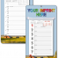 Weekly Board Calendars w/Easel Back - FARM/RURAL