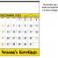 Contractor Memo Calendar, Yellow & Black