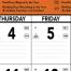Contractor Memo Calendar, Orange & Black