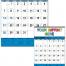 Contractor Memo Calendar, Blue & Black