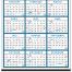 Span-A-Year (Non-Laminated) Calendar