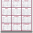 Span-A-Year - Blue & Red Calendar