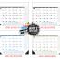 Multi-Colored Desk Pad Calendar, Top & Right Side Ads