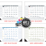 Multi-Colored Desk Pad Calendar, Top & Both Side Ads
