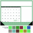 Modern Desk Pad Notes Calendar