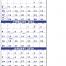 Commercial 3-Month Planner (4-sheet) Calendar