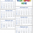 Commercial Planner Calendar, Blue & Grey