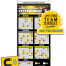 Tradenet Magnetic Business Card Pro Hockey Schedule (Blank/Bulk) Calendar