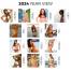 Vitronic Sunshine Girls Press-n-Stick™ Calendar; Business Card Holder (Imprinted)