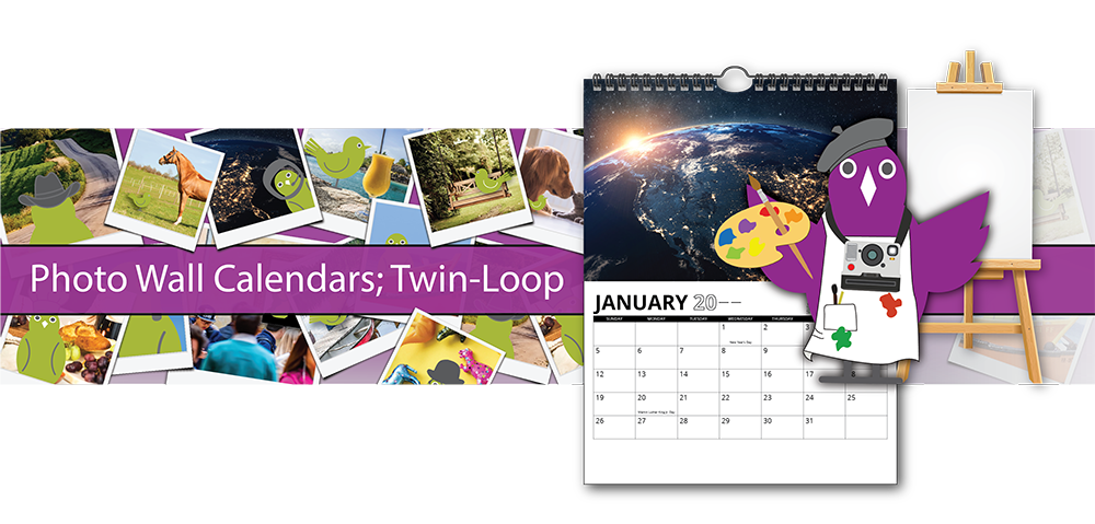 Custom Wall Calendars Twin-Loop | Promotional Twin Loop Calendars