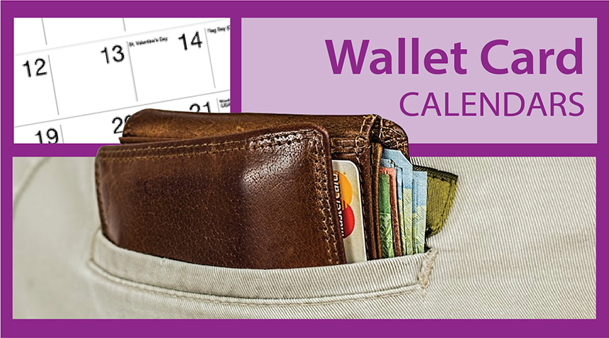 Wallet Card Calendars | Card Calendars for Businesses | Custom Wallet Calendars