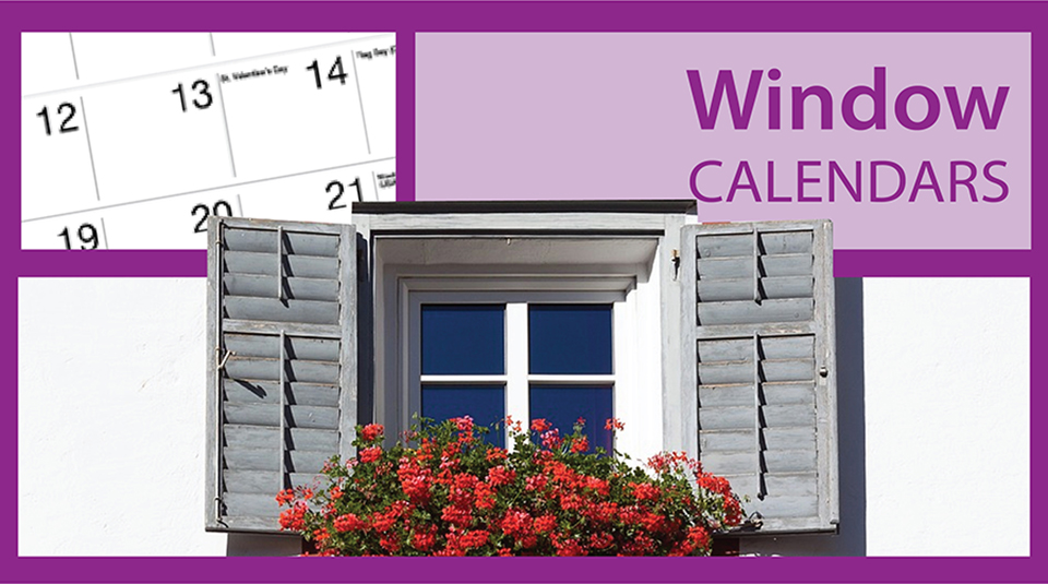 Window Center Wall Calendars | Calendars with Die-Cut Window Imprint